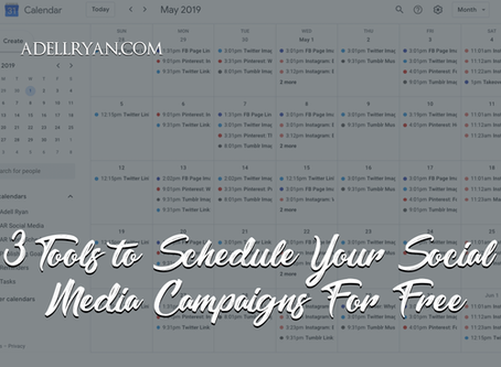 3 Tools to Schedule Your Social Media Campaigns For Free