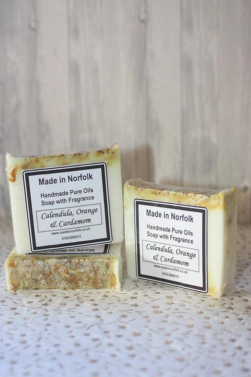 Calendula, Orange & Cardamom Soap