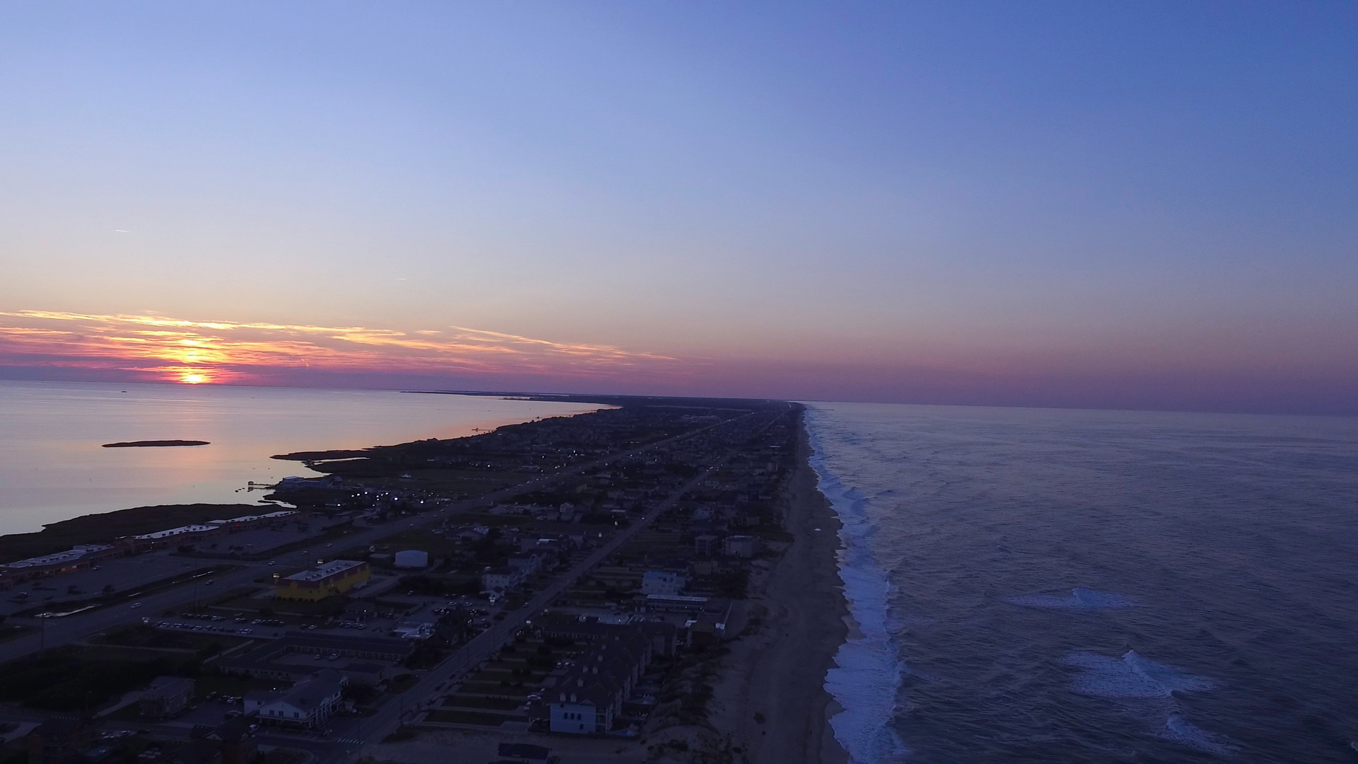 Sun setting over the Outer Banks