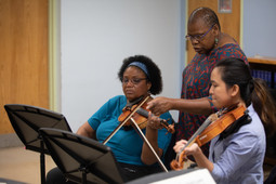 CalCap participants receive direction from instructor, Deboarah Pittman.