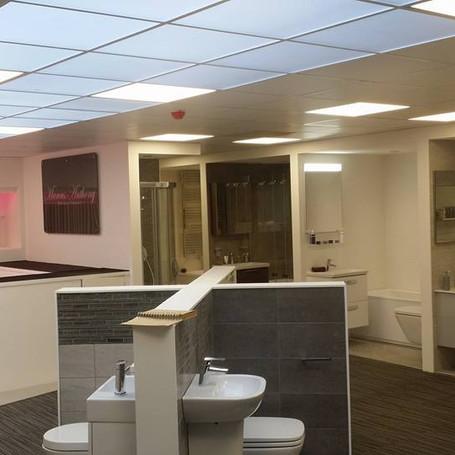 Showroom display lighting.