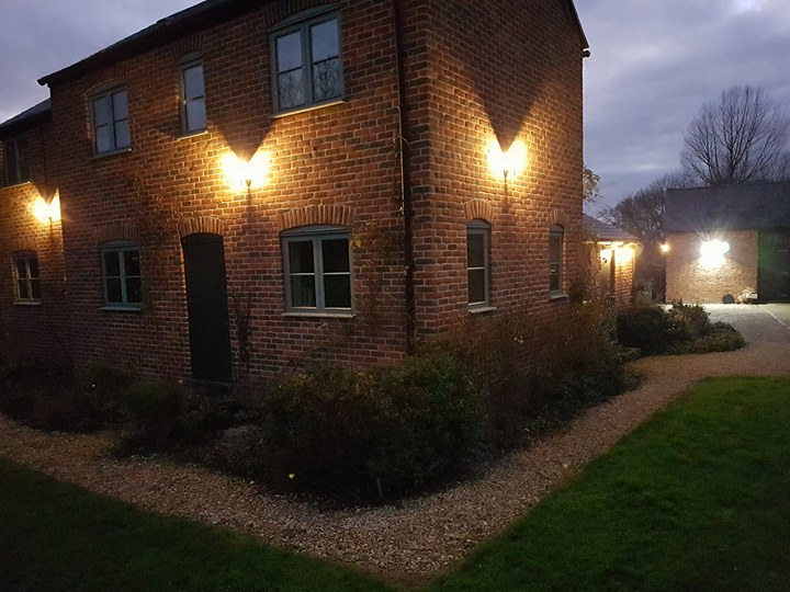 Farm house external lighting.