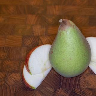 Opstilling med frugt