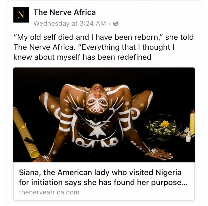 """Siana's Featured Article on """"The Nerve Africa"""""""