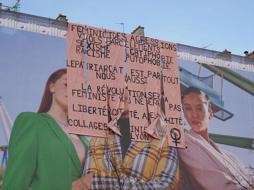 collage féministe lyon
