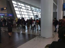 Boarding flight to Thailand