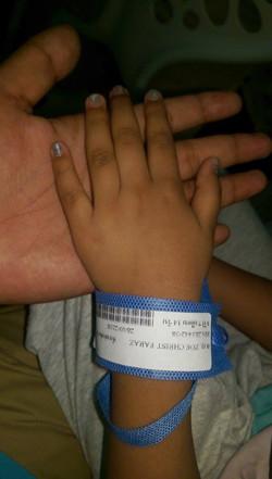 Zoe at hospital