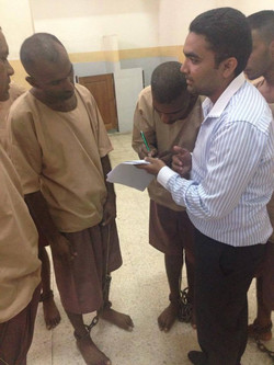 Brother Faraz with Asylum Seekers