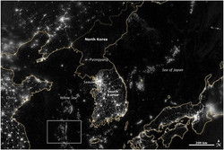 Imagen Satelitte de Corea del Norte