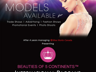 Models available for the trade shows, advertising, fashion shows, promotional events, photo shoots