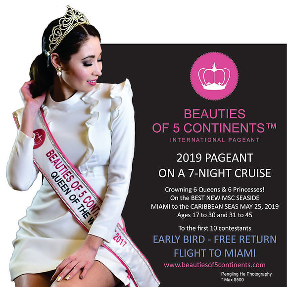 B5C World pageant 2019 search is on now! Become a model is easy now!