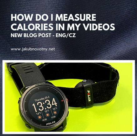 How do I measure calories in my videos?