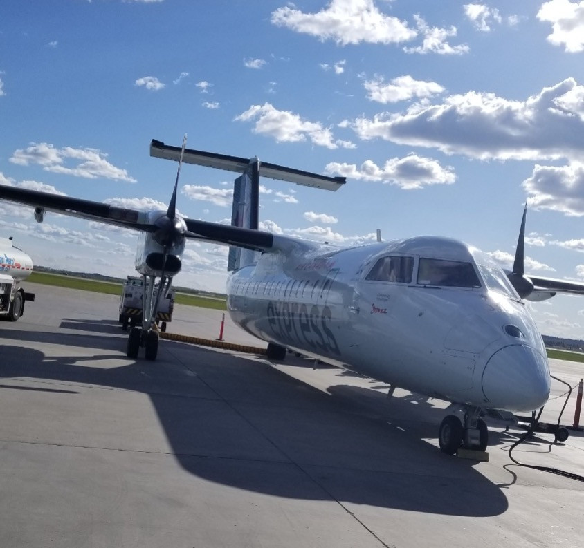 This is actually just a small cute plane for domestic flights :-)