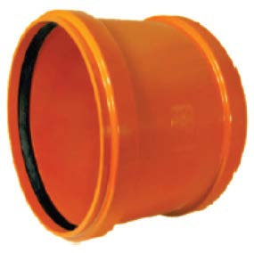 Mufă PVC dublă cu opritor SN4 (KGMM)