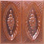 Cahle teracota Macon clasic-Model Trandafir, placa, culoare maro M12