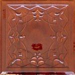 Cahle teracota Macon clasic-Model Ghiocel, placa, culoare maro M12