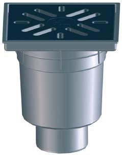 Gură de scurgere PP monobloc  cu ieșire verticală D110, D160, 1.5tone/o