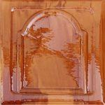 Cahle teracota Macon clasic-Model Bizantin, placa, culoare maroBM12