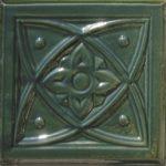 Cahle teracota Macon clasic-Model Diamant, placa, culoare verdeV12