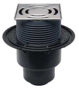 SIFHL3100 Sifon pardoseală cu ieșire verticală, înălțător cu ramă și grătar inox