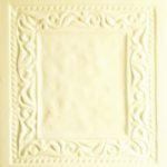 Cahle teracota Macon clasic-Model Baroc, placa, culoare alba A21