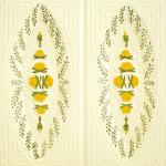 Cahle teracota Macon pictate- Model Trandafir, placa, culoare galben