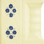 Cahle teracota Macon pictate- Model Panseluta, stalp, culoare bleumarin