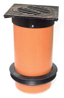 Grătar fontă cu tub telescop D315 - cu manşetă D400/315