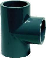 Teu redus PVC presiune 90°