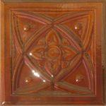Cahle teracota Macon clasic-Model Diamant, placa, culoare maro M12