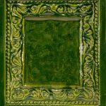 Cahle teracota Macon clasic-Model Baroc, placa, culoare verdeV12