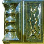 Cahle teracota Macon clasic-Model Ghiocel, stalp, culoare verdeV12