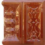Cahle teracota Macon clasic-Model Ghiocel, stalp, culoare maro M12