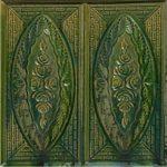 Cahle teracota Macon clasic-Model Trandafir, placa, culoare verdeV12