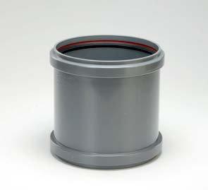 Mufă PVC dublă cu opritor SN8 (KGMM)