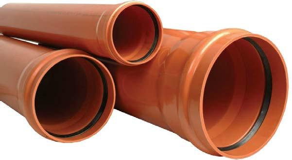 Ţevi canalizări exterioare PVC COMPACT cu o mufă şi garnitură SN4 (KGEM)