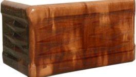 Cahle teracota Macon clasic, colţ cornişă, culoare maro BM12