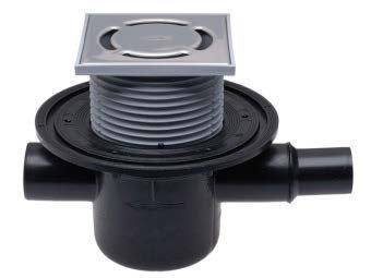 Sifon pardoseală cu 1 intrare/1 ieȘire, gardă de apă, protecție antirefulare și