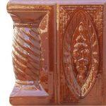 Cahle teracota Macon clasic-Model Trandafir, stalp, culoare maro M12