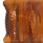 Cahle teracota Macon clasic-Model Trandafir, stalp, culoare maroBM12
