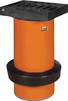 Grătar fontă cu tub telescop D250 - cu manşetă D315/250