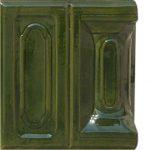 Cahle teracota Macon clasic-Model Bizantin, stalp, culoare verdeV12