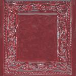 Cahle teracota Macon clasic-Model Baroc, placa, culoare visiniuV11