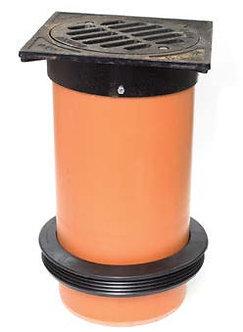 Grătar fontă cu tub telescop D315 - cu manșetă D400/315