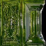 Cahle teracota Macon clasic-Model Baroc, stalp, culoare verdeV12