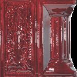 Cahle teracota Macon clasic-Model Baroc, stalp, culoare visiniuV11