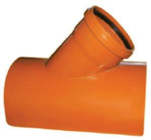 Șa PVC bransament prin lipire 45 - SN4