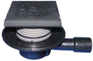 SIFHL510NG Sifon pardoseală cu ieșire laterală cu ramă și grătar fontă - clasa A