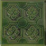 Cahle teracota Macon clasic-Model Panseluta, placa, culoare verdeV12