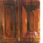 Cahle teracota Macon clasic-Model Bizantin, stalp, culoare maroBM12